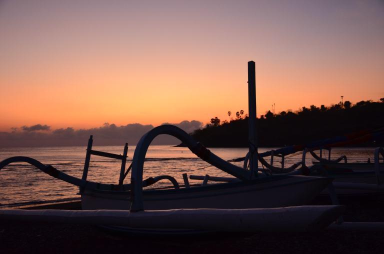 Schönes Setting für den Sonnenaufgang